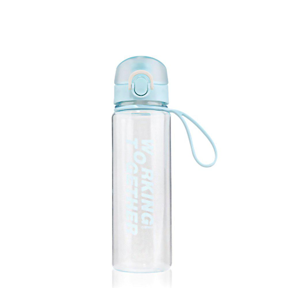 Discount Creative Convenience Jump Cover Transparent Leakproof Snap Button Plastic Cup