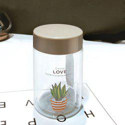 Portable Compact Simple Double Glass Cup -