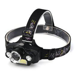 HKV Outdoor Waterproof Headlamps COB LED Headlight Zoomable Tactical Lamp -