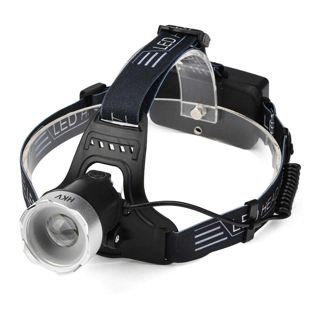 HKV Zoom Capteur LED Induction LED Imperméable à l'eau Rechargeable USB Headlamp