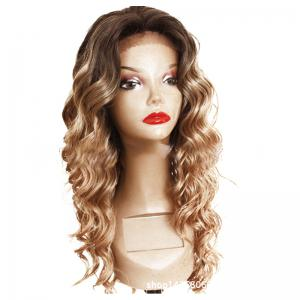 Chemical Fiber Front Lace Long Curly Hair Set -