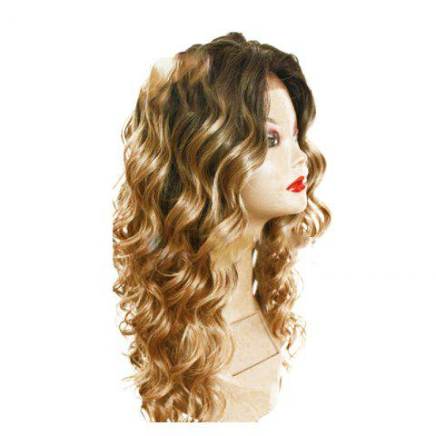 Chic Chemical Fiber Front Lace Long Curly Hair Set