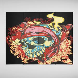 Indian Series of Flame Skeleton Pattern Personalized Decoration Tapestry GT-32-1 -