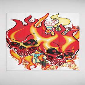 Indian Series of Flame Skeleton Pattern Personalized Decoration  Tapestry -