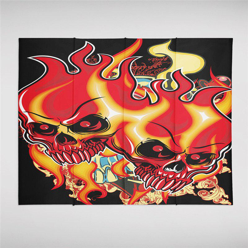 Shops Indian Series  Flame Skeleton Pattern Personalized Decoration Tapestry  GT-33-1