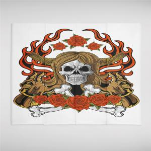 Indian Series of Flame Skeleton Pattern Personalized Decoration Tapestry GT-34 -