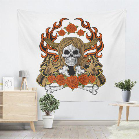 Buy Indian Series of Flame Skeleton Pattern Personalized Decoration Tapestry GT-34