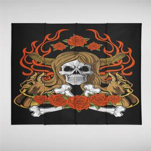 Indian Series of Flame Skeleton Pattern Personalized Decoration Tapestry GT-34-1 -