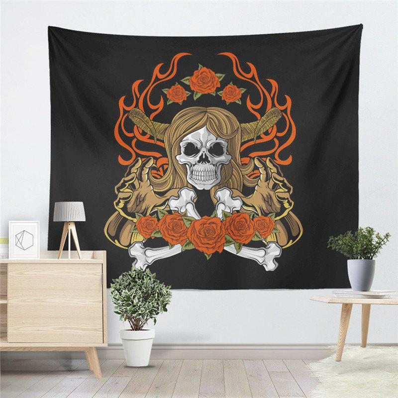 Shop Indian Series of Flame Skeleton Pattern Personalized Decoration Tapestry GT-34-1