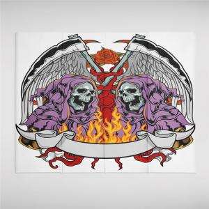 Indian Series of Flame Skeleton Pattern Personalized Decoration Tapestry GT-35 -