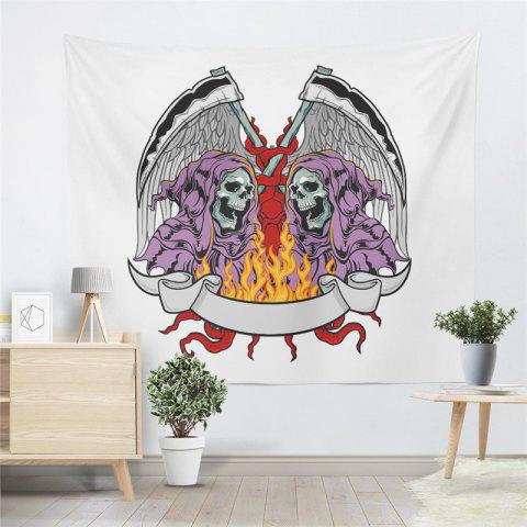 Best Indian Series of Flame Skeleton Pattern Personalized Decoration Tapestry GT-35