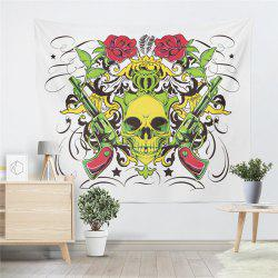 Rose Skeleton Personality Decoration Background  Tapestry GT-41 -