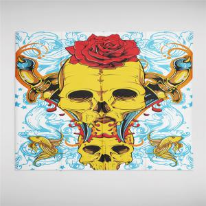 Rose Skeleton Personality Decoration Background Tapestry GT-42 -