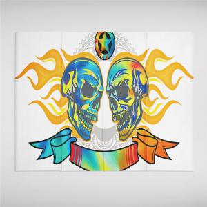 Flame Skeleton Pattern Personalized Decoration Background Tapestry GT-46 -