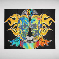 Flame Skeleton Pattern Personalized Decoration Background Tapestry  GT-46-1 -