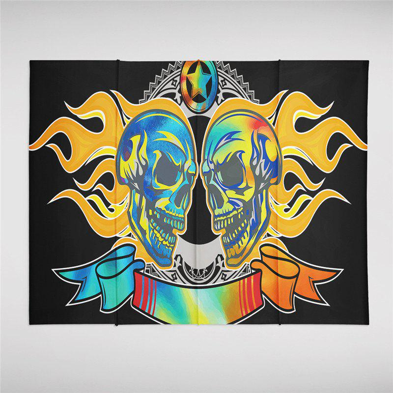 Fashion Flame Skeleton Pattern Personalized Decoration Background Tapestry  GT-46-1