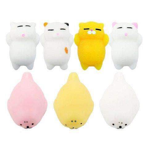 Fashion Jumbo Squishy Toy Animals Mini Kawaii Reduce Stress Toys 7PCS