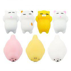 Jumbo Squishy Toy Animals Mini Kawaii Reduce Stress Toys 7PCS -