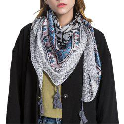 F1010 Blue Patchwork Colorful Silk Scarf Cape Scarves Wrap -