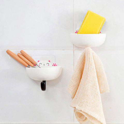 Outfits Fat Cat Soap Box with Hook Home Articles Storage Dish Rack 2PCS