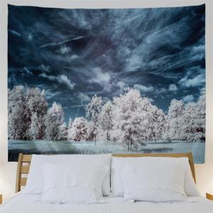 Snow Tree 3D Printing Home Wall Hanging Tapestry for Decoration -