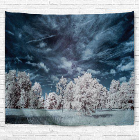 Shops Snow Tree 3D Printing Home Wall Hanging Tapestry for Decoration