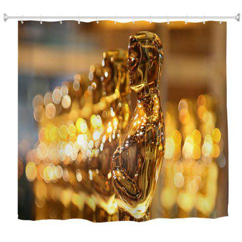 Sale Oscar Man Water-Proof Polyester 3D Printing Bathroom Shower Curtain