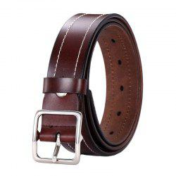 Fashion Casual Car Line Leather Wide Belt -