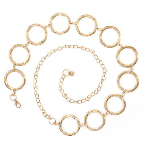 New Ladies Ring Metal Temperament Decorative Waist Chain