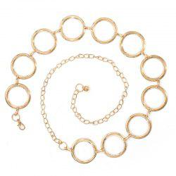 Ladies Ring Metal Temperament Decorative Waist Chain -