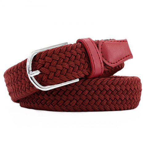 Store Fashion  Elastic Woven Pin Buckle Belt