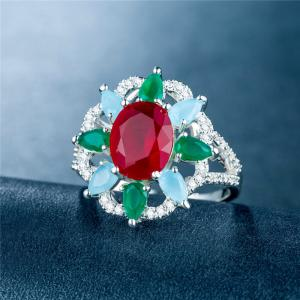 Creative Sun Flower Diamond Ring -
