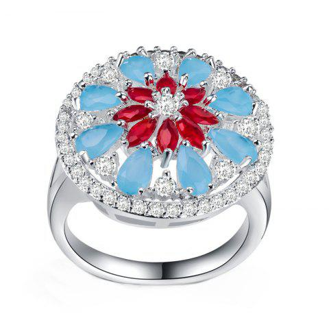 Shops Lady's Flowers Frosted Hollow Ring
