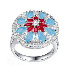 Lady's Flowers Frosted Hollow Ring -