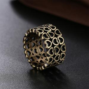 Vintage Creative Hollow Out Heart Shape Ring Charm Jewelry -