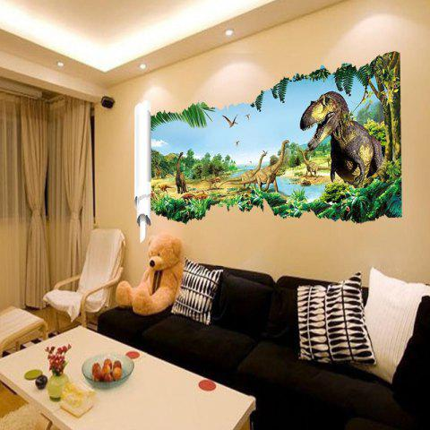 Affordable 3D Dinosaurs World Background Wall Sticker Home Animal Decoration