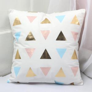 Fashion Soft Flannelette Stamping Pillow Cover -