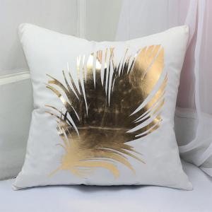 New  Soft Flannel Gold Stamp Pillow Cover -