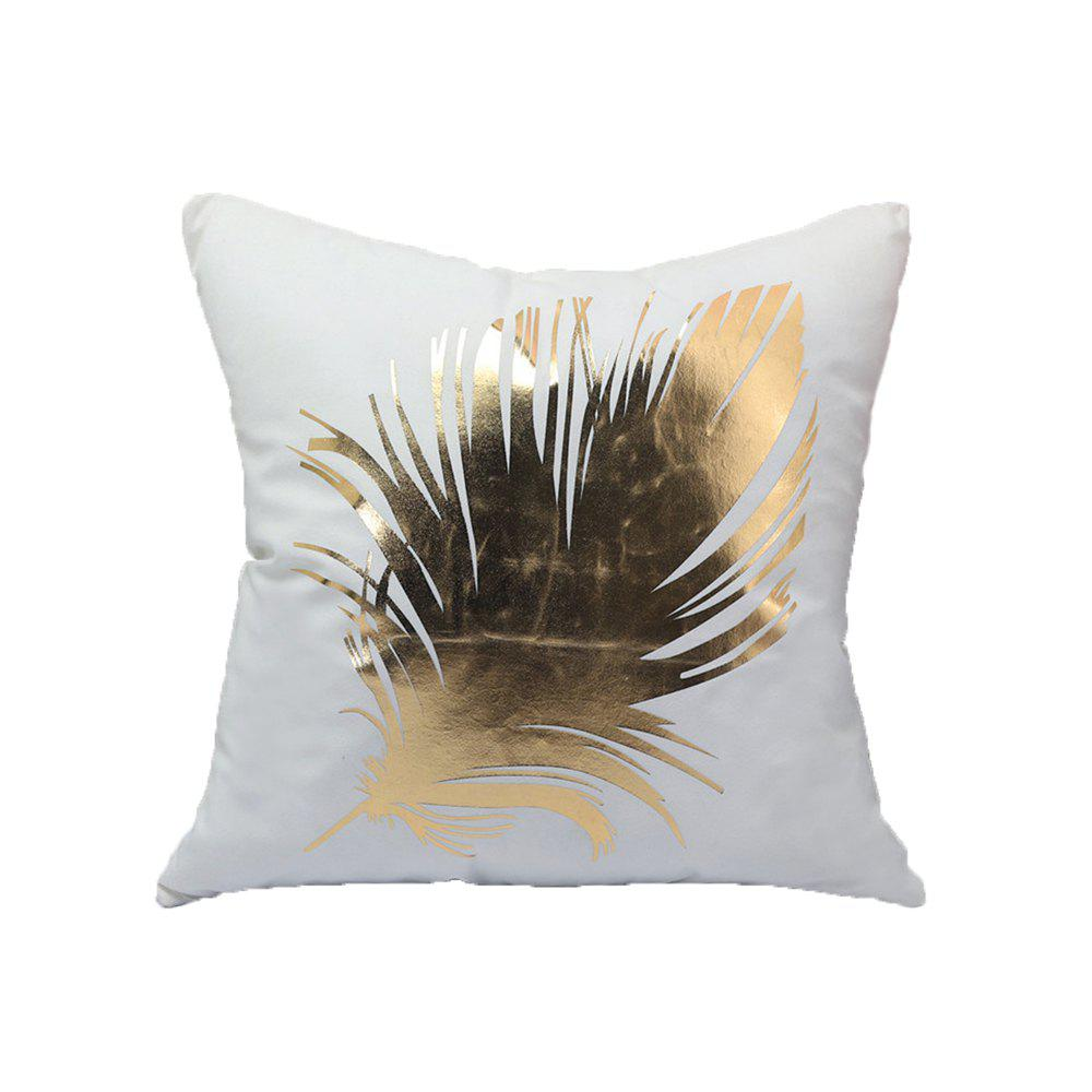 Shops New  Soft Flannel Gold Stamp Pillow Cover