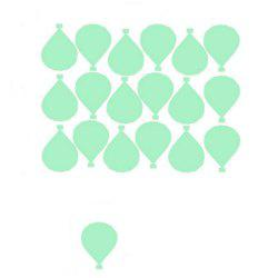 Noctilucent Engraving Adorable Balloon Cartoon Switch Sticker Wall -