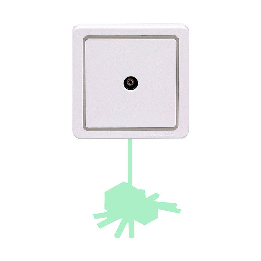 Trendy Noctilucent Engraving Adorable  Spider Cartoon Switch Sticker Wall