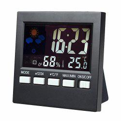 Multi-functional Desk Clock with Digital Weather Station  Baby Humidity Display -