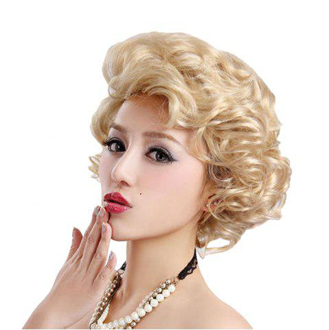 Store Synthetic Light Blonde Short Curly Hair Charming Cosplay Dancing Party Wigs