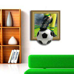 3D Football Personality Creative Removable Wall Sticker -