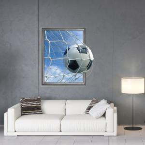 3D Football Scoring Personality Creative Removable Wall Sticker -