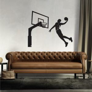 Black Basketball Personality Creative Removable Wall Sticker -