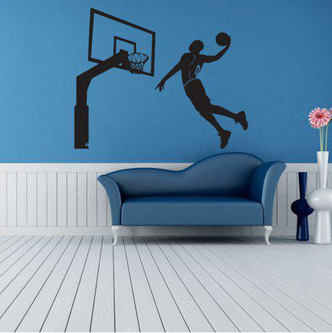 Buy Black Basketball Personality Creative Removable Wall Sticker