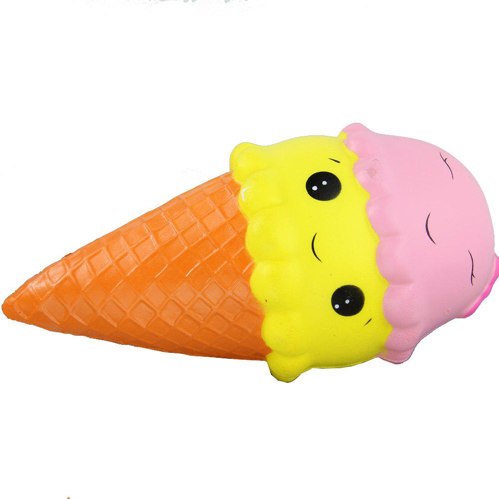 Online Jumbo Squishy Yellow Pink Ice Cream Relieve Stress Toys
