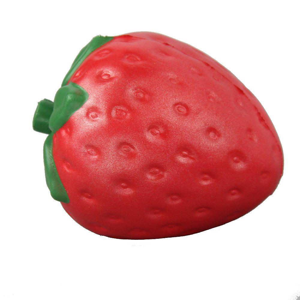 Discount Jumbo Squishy Coloured Strawberry Relieve Stress Toys