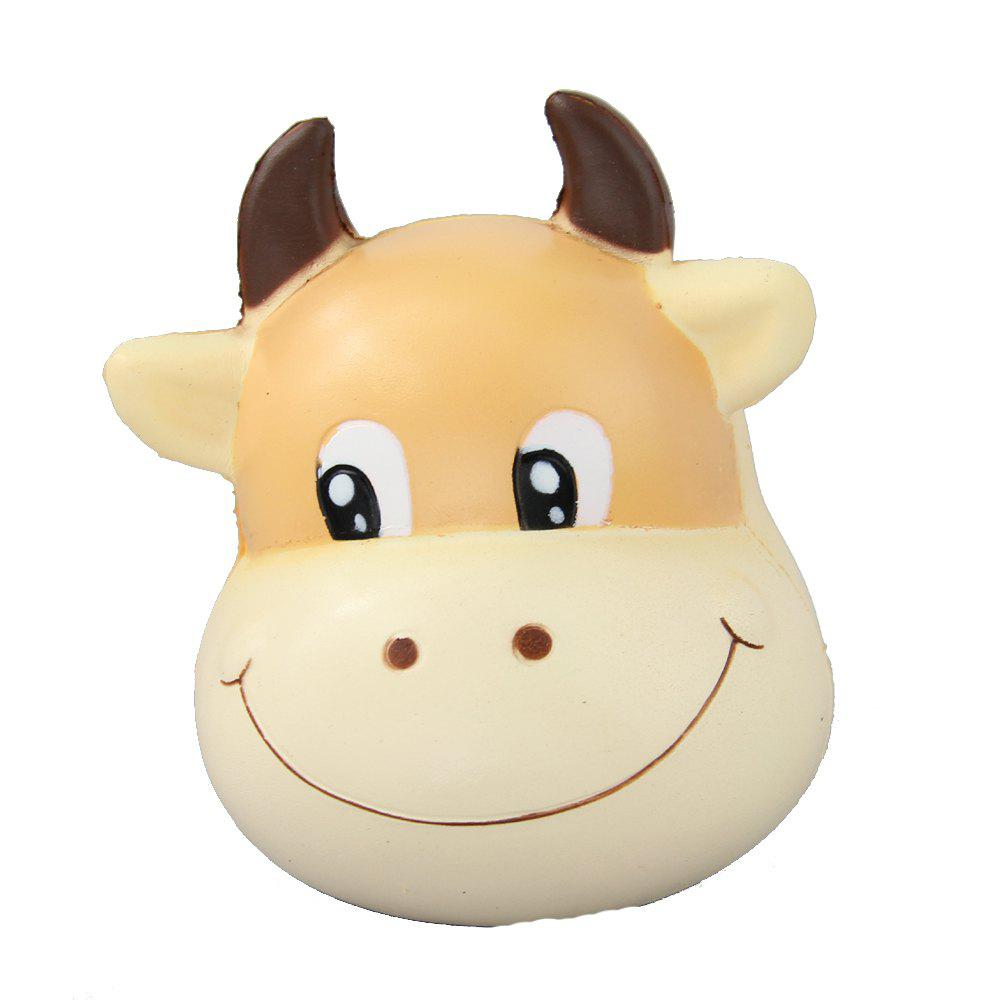 Trendy Jumbo Squishy Brown Cow Relieve Stress Toys